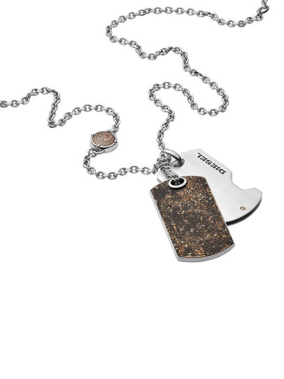 Diesel - NECKLACE DX1079, Bronze - Necklaces - Image 2