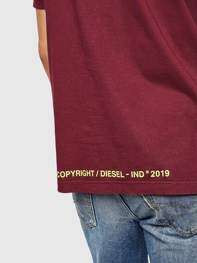 Diesel - T-DIKEL, Bordeaux - T-Shirts - Image 4