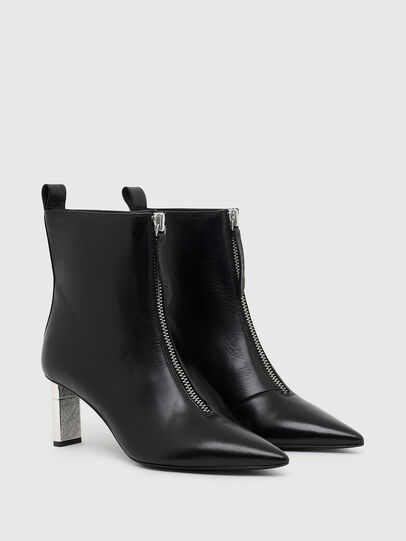Diesel - D-LEZIPPO MAB, Black/Silver - Ankle Boots - Image 2