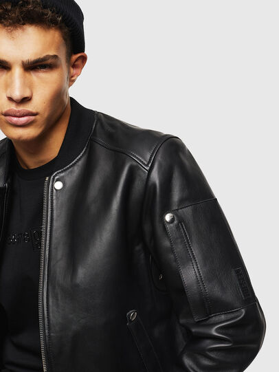 Diesel - L-JOSEPH, Black - Leather jackets - Image 3