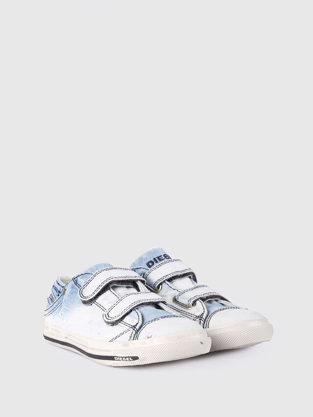 KIDS SN LOW STRAP 11 DENI, Light Blue - Footwear - Image 2
