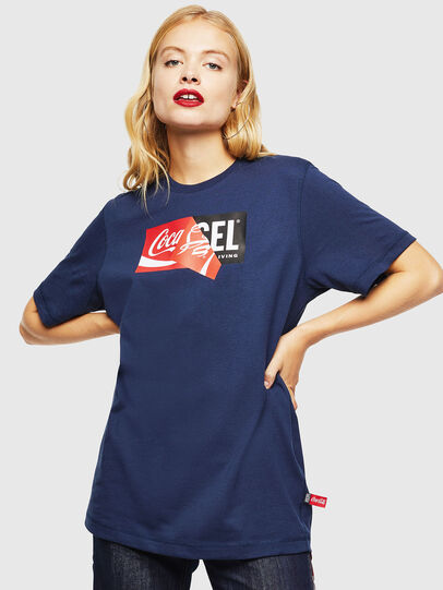 Diesel - CC-T-JUST-COLA, Dark Blue - T-Shirts - Image 2