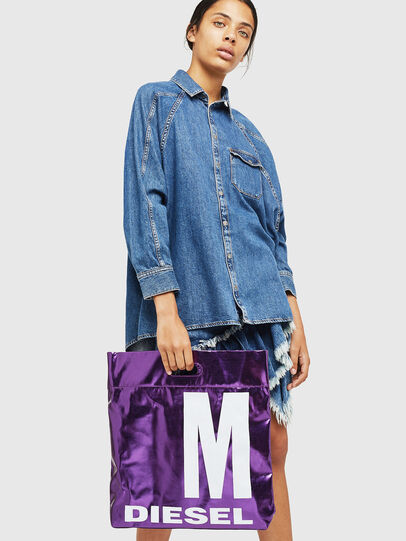 Diesel - F-LITT-HER M, Violet - Shopping and Shoulder Bags - Image 6