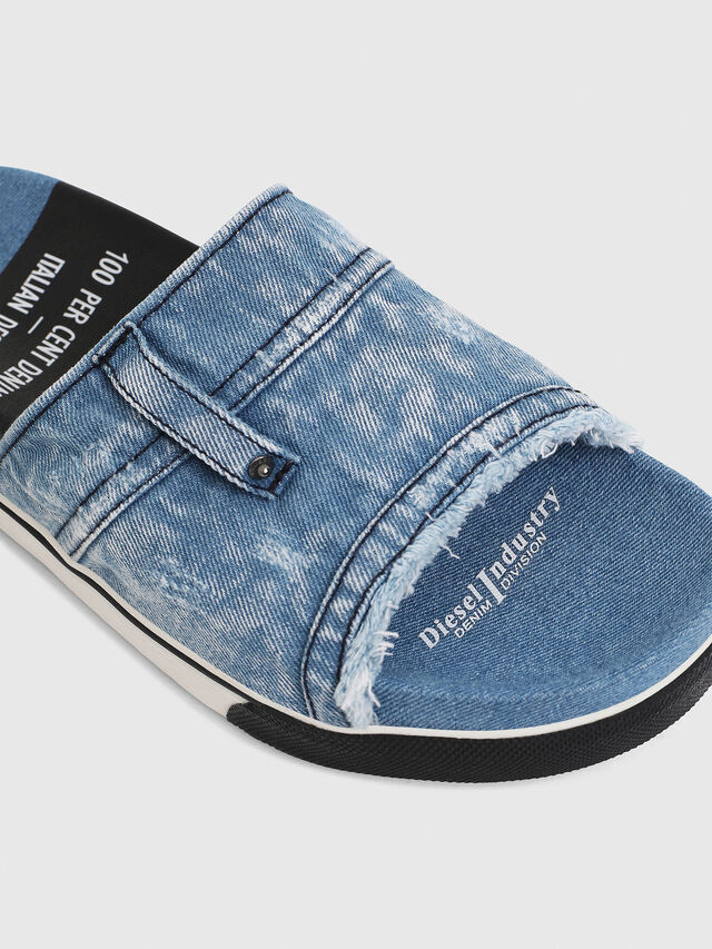 Diesel - SA-GRAND OT, Blue Jeans - Slippers - Image 5