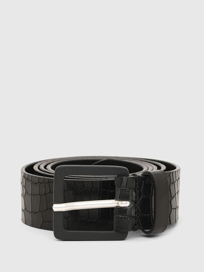 Diesel - B-CROCLE, Black - Belts - Image 1