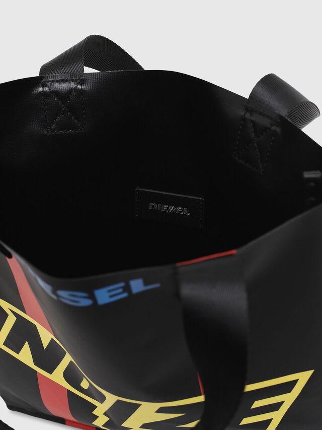 Diesel - BILLBOARD SHOPPER, Black/Yellow - Bags - Image 4