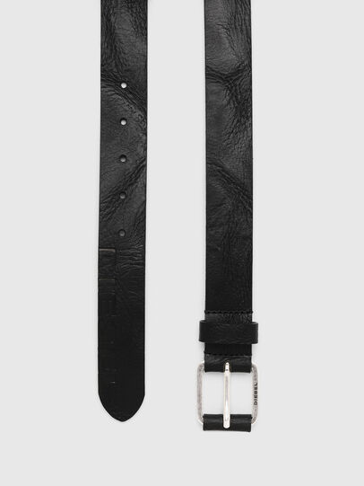 Diesel - B-LOG, Black Leather - Belts - Image 3