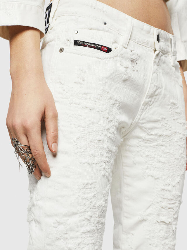 Diesel - D-Rifty 069GY, White - Jeans - Image 3