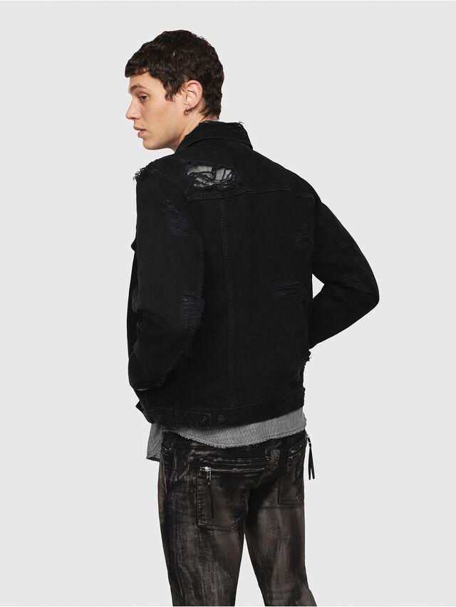 Diesel - D-HILL, Black - Denim Jackets - Image 2