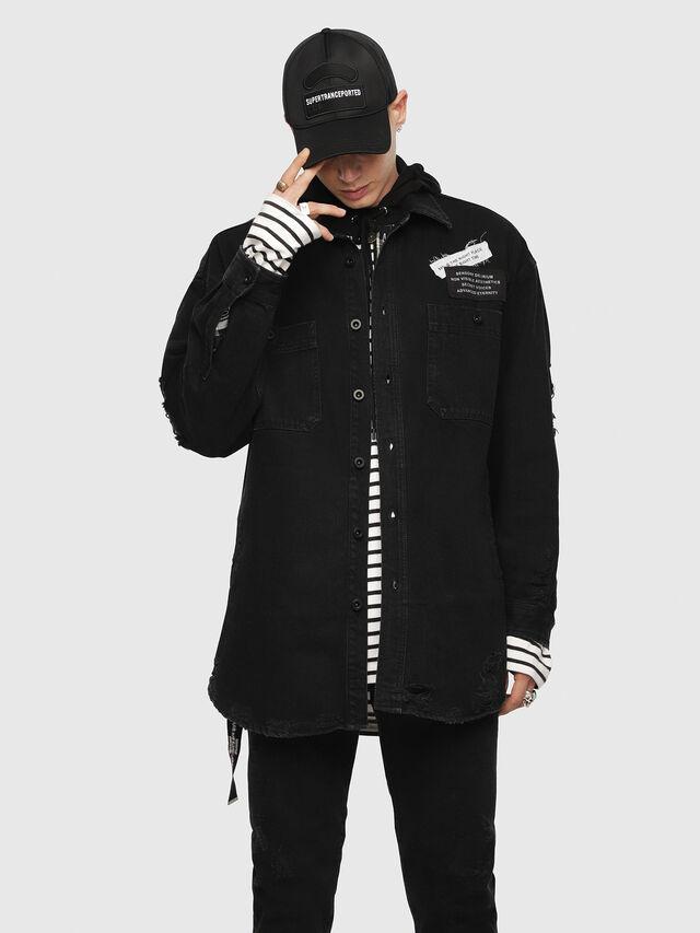 Diesel - D-LOREN, Black - Denim Jackets - Image 1