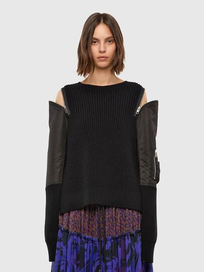 Diesel - M-CLARE, Black - Knitwear - Image 1