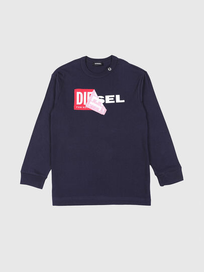 Diesel - TEDRI OVER, Navy Blue - T-shirts and Tops - Image 1