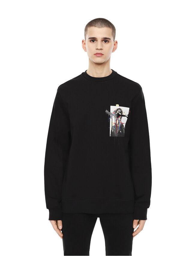 Diesel - SNEILB-DRIPPINGSOLDI, Black - Sweaters - Image 1