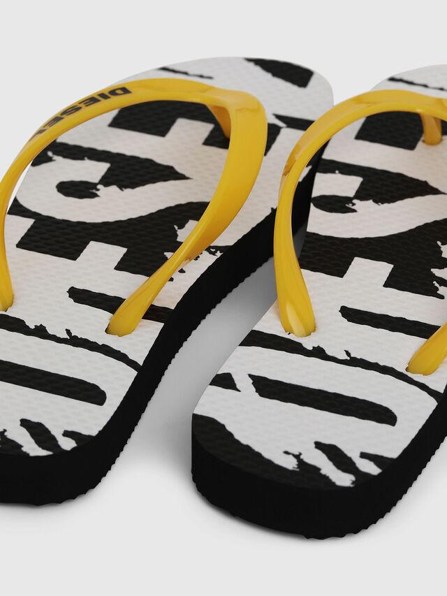 Diesel - FF 22 FLIPPER CH, Black/White - Footwear - Image 4