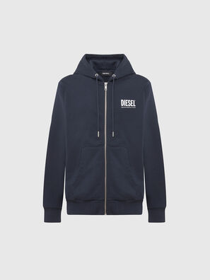 S-GIRK-HOOD-ZIP-LOGO, Dark Blue - Sweaters