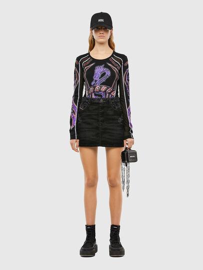 Diesel - DE-FREESIA-SP, Black - Skirts - Image 6