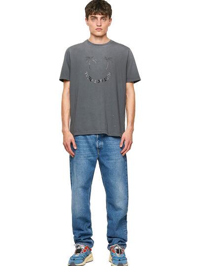 Diesel - T-JUST-B64, Grey - T-Shirts - Image 4