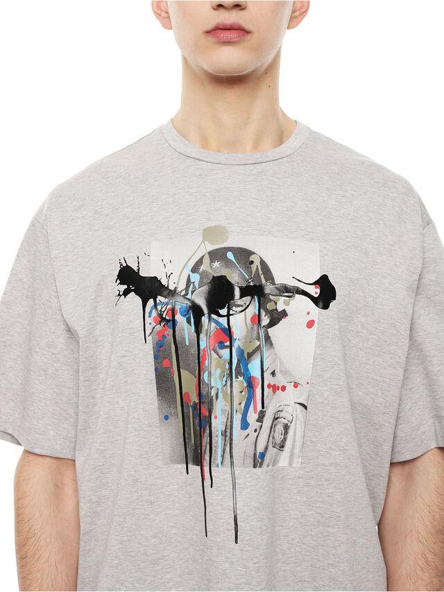 Diesel - TEORIA-MELTINGSOLDIE, Grey - T-Shirts - Image 3