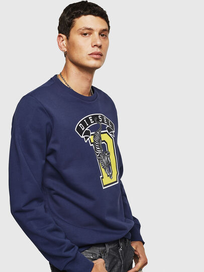 Diesel - S-GIR-B1, Blue - Sweaters - Image 3