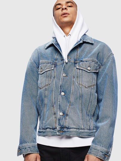 Diesel - D-BRISTY, Light Blue - Denim Jackets - Image 1