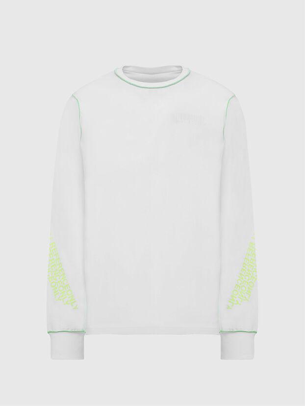 T-JUSEAM-LS, White - T-Shirts