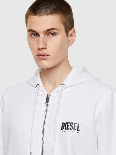 Diesel - S-GIRK-HOOD-ZIP-ECOL, White - Sweaters - Image 3