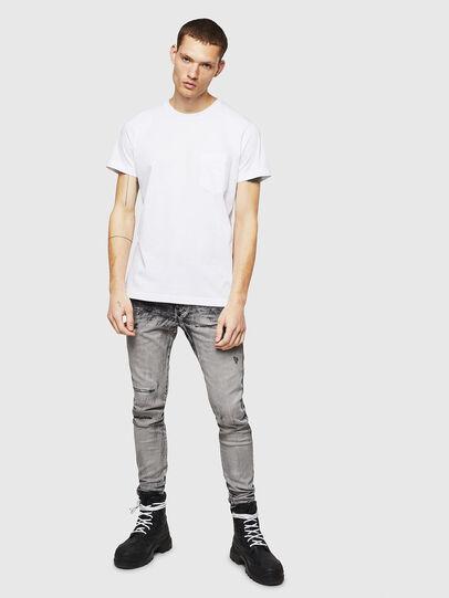 Diesel - T-DIEGO-POCKET-B1, White - T-Shirts - Image 4
