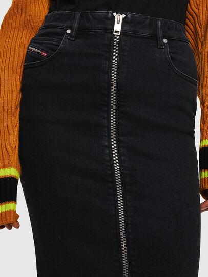 Diesel - DE-PENCIL-ZIP, Black/Dark grey - Skirts - Image 3