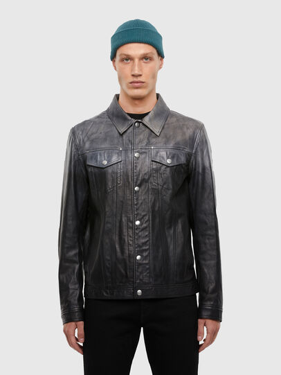 Diesel - L-NHILL-TRE,  - Leather jackets - Image 1
