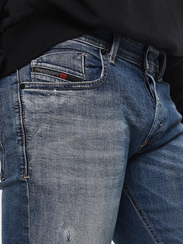 Diesel - Sleenker 069FI, Dark Blue - Jeans - Image 3