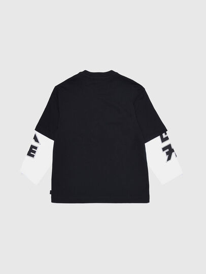 Diesel - TSOUND OVER, Black/White - T-shirts and Tops - Image 2