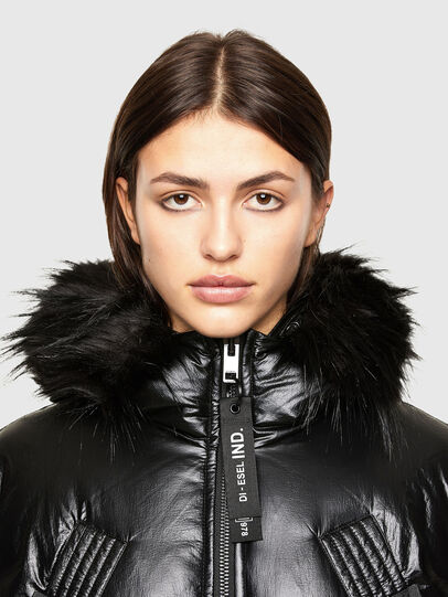 Diesel - W-ISOKE-SHINY, Black - Winter Jackets - Image 3