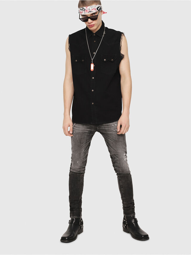 Diesel - D-KIRU, Black - Denim Shirts - Image 4
