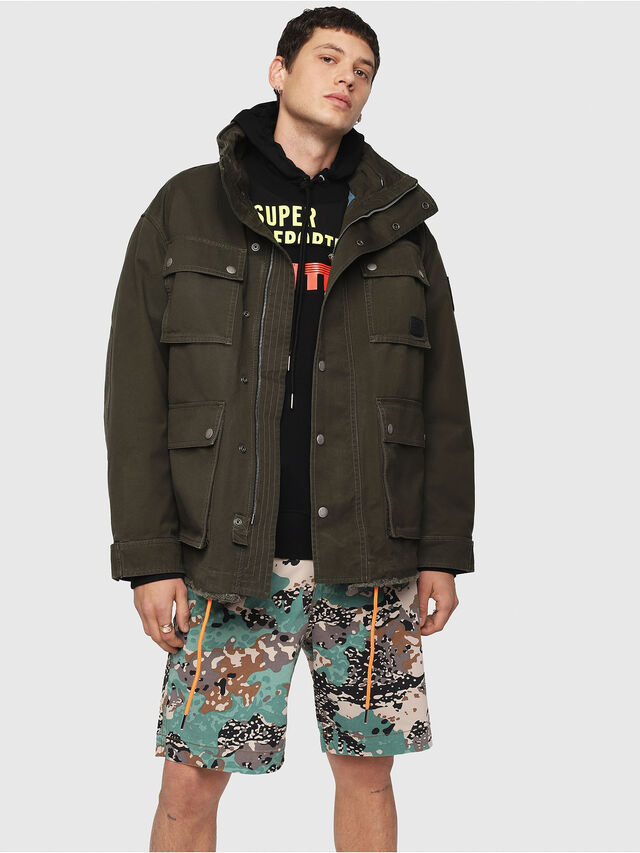 Diesel - J-TOUCHA, Military Green - Jackets - Image 1