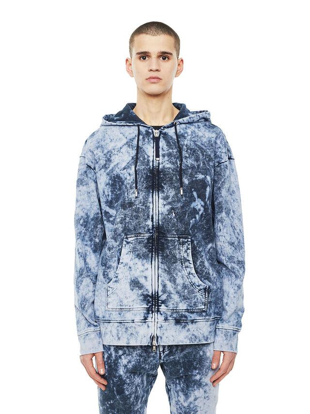 Diesel - FYOVER, Blue/White - Sweaters - Image 1