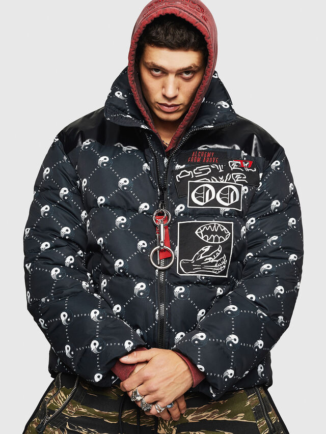 Diesel - W-PIATIG-PEACE, Black - Winter Jackets - Image 1