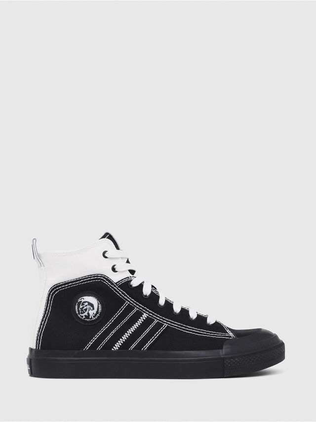 Diesel - S-ASTICO MID LACE, Black/White - Sneakers - Image 1