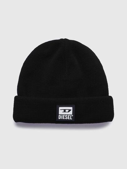 Diesel - K-XAU, Black - Knit caps - Image 1