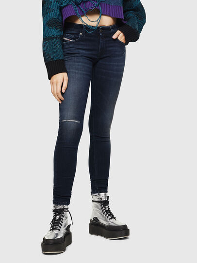Diesel - Slandy Low 0870C, Dark Blue - Jeans - Image 1