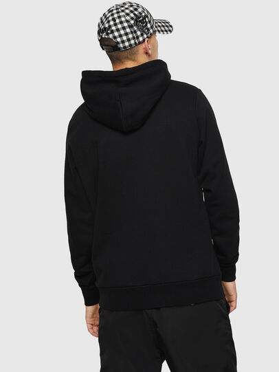 Diesel - S-GIR-HOOD-DIVISION-, Black - Sweaters - Image 2