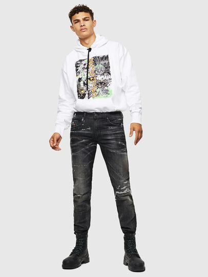 Diesel - Thommer JoggJeans 0098E, Black/Dark grey - Jeans - Image 7
