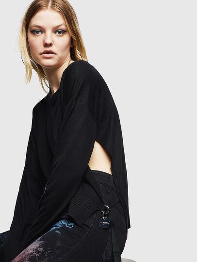 Diesel - M-PERLA, Black - Knitwear - Image 5