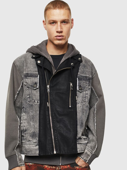 Diesel - D-LOSTY, Black - Denim Jackets - Image 1