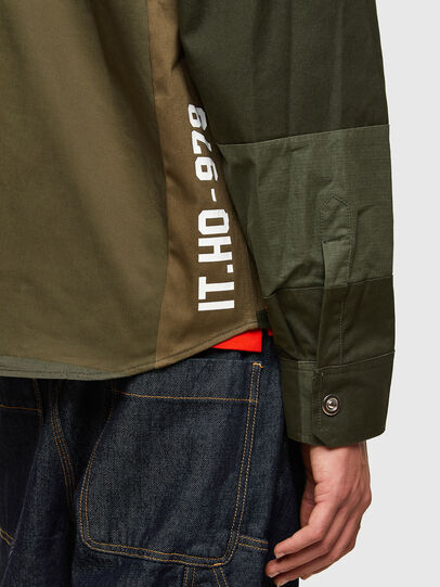 Diesel - S-HORUS, Olive Green - Shirts - Image 4