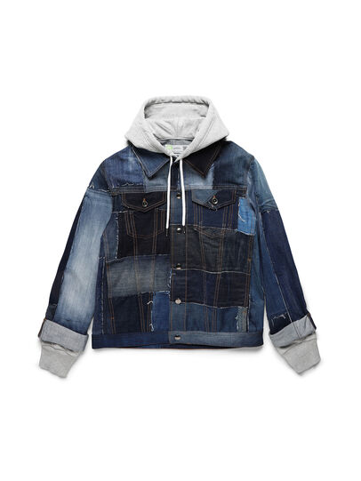Diesel - D-OWNHILL55, Medium blue - Denim Jackets - Image 1