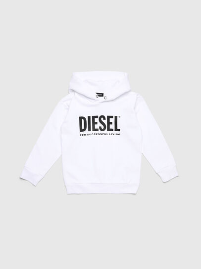 Diesel - SDIVISION-LOGO OVER, White - Sweaters - Image 1