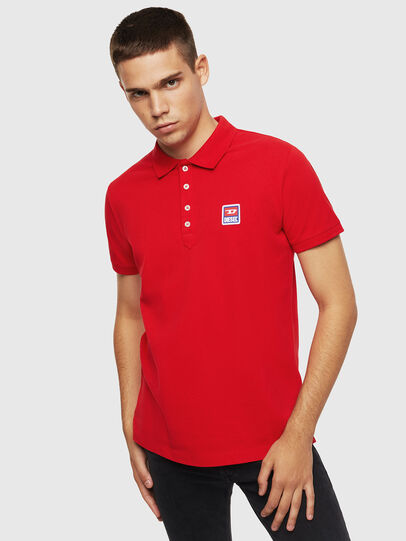 Diesel - T-KAL-PATCH, Red - Polos - Image 1