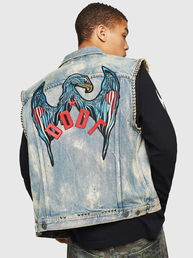 Diesel - D-SMAK, Light Blue - Denim Jackets - Image 2