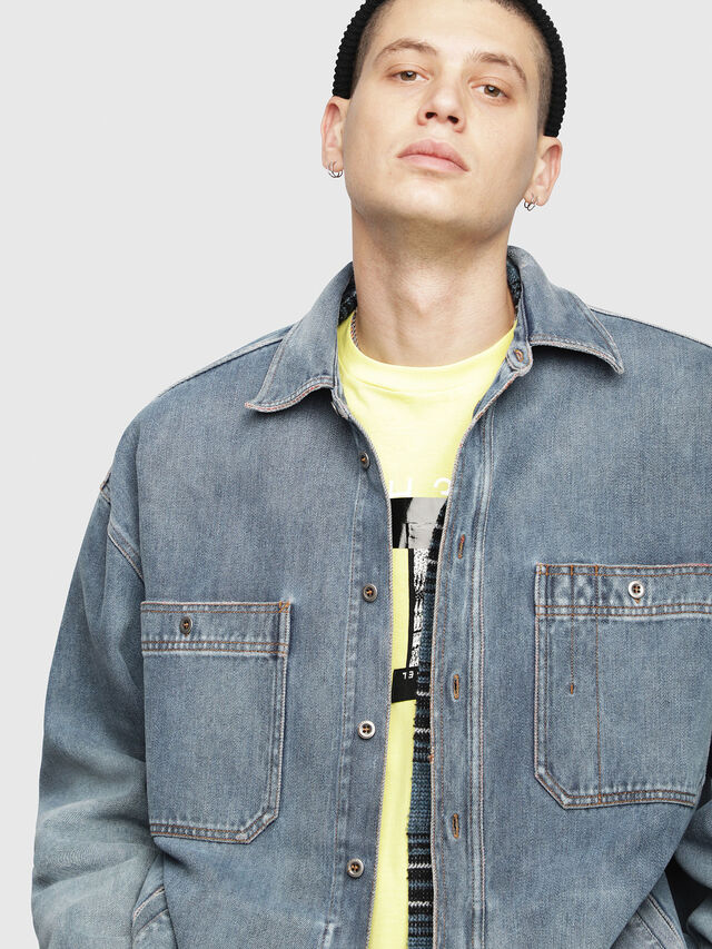 Diesel - D-LOREN, Blue Jeans - Denim Jackets - Image 5