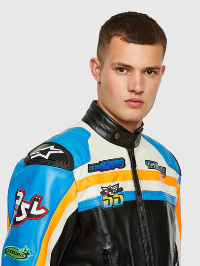 Diesel - ASTARS-LPATCH-1A-B,  - Leather jackets - Image 5
